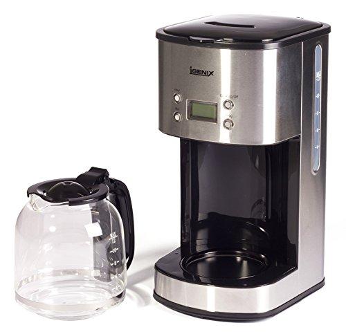 Igenix IG8250 10-Cup Digital Coffee Maker - Stainless Steel - Coffee Beansv