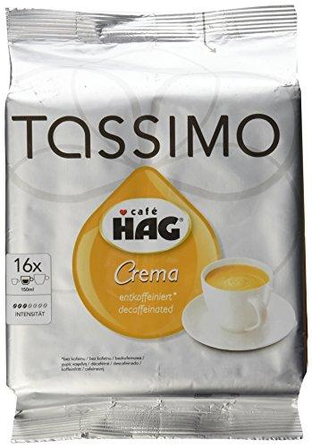 tassimo caf hag crema decaffeinated 16 t discs coffee. Black Bedroom Furniture Sets. Home Design Ideas